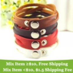 Cheap Fashion !!!  colors cross leather bracelet  Buckle Style Leather Bracelet jewelry for women wholesale cRYSTAL sHOP