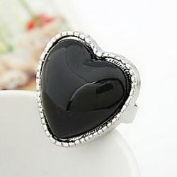 Cheap Korean fashion style peach heart big stars love open ring (random color)