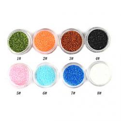 Cheap 1PCS Laser Glitter Acrylic Powder For 3D Nail Art(Assorted Color,No.1-8)