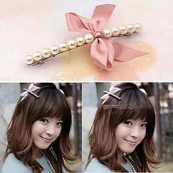 Low Price on Korean Fashion Bow And Pearl Hair Clips