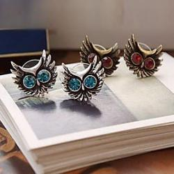 Cheap Foreign Trade Of The Original Single Fine Diamond Earrings Owl Earrings E69 E192