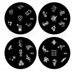Cheap 1PCS Nail Art Stamp Stamping Image Template Plate B Series NO.5-8(Assorted Pattern)