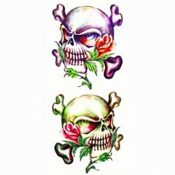 Cheap 1pc Other Skull Waterproof Tattoo Sample Mold Temporary Tattoos Sticker for Body Art(18.5cm8.5cm)