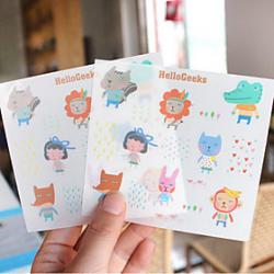 Cheap Cartoon PVC Scrapbooking Decorate Stickers(2PCS)