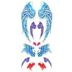 Low Price on 1pc Angel Wings Waterproof Tattoo Sample Mold Temporary Tattoos Sticker for Body Art(18.5cm8.5cm)
