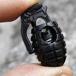 Cheap Hand Grenade Shoe Lace Buckle(Black)