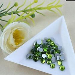Cheap 1.92.1mm Boutique(Olive Green)Flat Back Rhinestones(Phone Beauty)Nail bedazzle 100 pieces