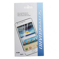 Cheap Protective Clear Screen Protector with Cleaning Cloth for HTC G21