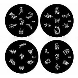 Cheap 1PCS Nail Art Stamp Stamping Image Template Plate B Series NO.29-32(Assorted Pattern)