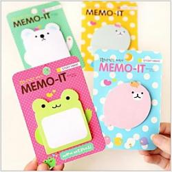 Cheap Animal Pattern Self-Stick Note(Random Color)