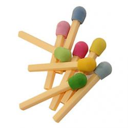 Cheap Cute Matchstick Pattern Eraser(Random Colors)