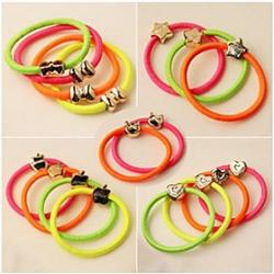 (3PC Random) Simple and Practical High Elastic Color Elastic Hair Bands Sale