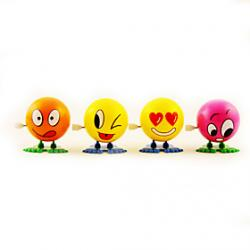 Cheap Stem Winding up Jumping Cartoon Face Ball Doll(Random Color)