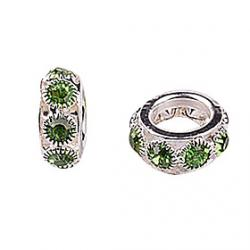 Low Price on Green Rhinestone DIY Beads for Bracelet  Necklace