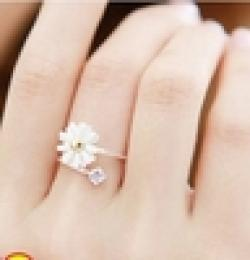 Cheap MZ099 @ @ Cheap Korean Jewelry Rings Fashion Rings yellow daisy flower fresh girl  Free Shipping