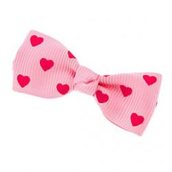 Cheap Heart Pattern Mini Bow Tie Hair Clip for Pets