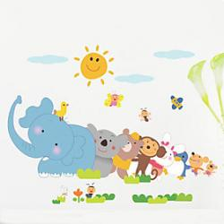 Cheap 1PCS Colorful Animals Wall Sticker