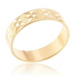 Cheap Mens Lmitation Gold Engraved Pattern Rings(Random Delivery)
