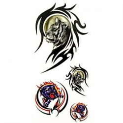 Cheap 1pc Tiger in Totem Animal Waterproof Tattoo Sample Mold Temporary Tattoos Sticker for Body Art(18.5cm8.5cm)