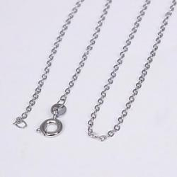 Cheap Unisex 1MM Ring ChainSilver Chain Necklace NO.11