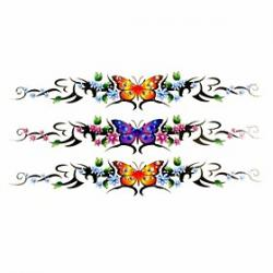 Cheap 1pc Butterfly Bracelet Waterproof Tattoo Sample Mold Temporary Tattoos Sticker for Hand Wrist(18.5cm8.5cm)