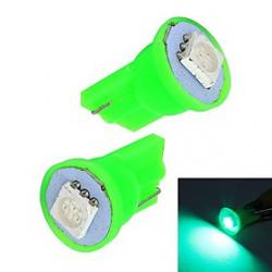 Cheap Merdia 0.5W 10LM T10 1x5050SMD LED Green Light Car Instrument / Brake Lamp Bulbs(Pair /12V)