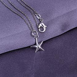 Cheap Sliver Starfish Pattern Pendant (Pendant Only)