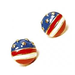 Cheap Hot Wild European And American Style Retro Fan Children American Flag Earrings Earrings E83