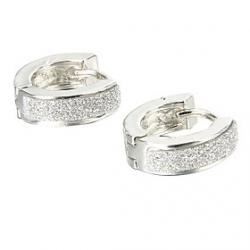 Cheap Gift For Boyfriend Fashion Glitter Silver Titanium Steel Stud Earrings (1 Pair)
