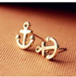 Cheap ER140 The new Europe and America Mischa Barton anchor earrings Free Shipping