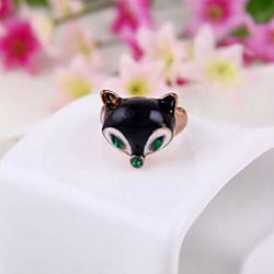 Low Price on Fox Head Ring Super Meng Ring Women Rings R233 Creative Personality