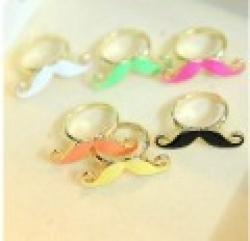 Cheap Minimal mix styles $5 New Designer Jewellery Classic Candy Color Adjustable Mustache Ring B9R6C Free Shipping