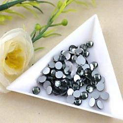 Cheap 2.72.9mm Boutique(Gray)Flat Back Rhinestones(Phone Beauty)Nail bedazzle 100 pieces