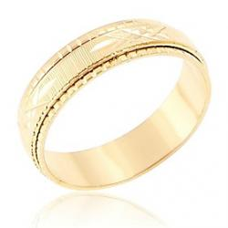 Cheap Mens Lmitation Gold Cross The Line Texture Rings(Random Delivery)