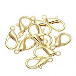 Cheap Brand-new Gold Alloy Clip Snap Hook for Bag Bracelet Crafts   Lobster Clasp 30x15mm