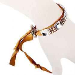 Cheap Glass Diamond Ribbon Coffee Bracelet