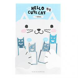 Cheap Cute Cat Stainless Steel Bookmarks (4-Pack)