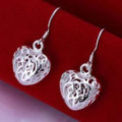 Cheap 925 silver earrings 925 sterling silver fashion jewelry earrings beautiful earrings high quality Small Solid Heart Earrings
