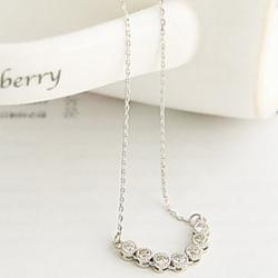 Cheap Korean version of the word exquisite diamond drill clavicle chain necklace single drainage N552
