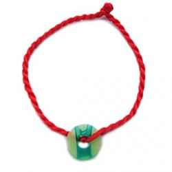 Cheap China Red Classic Red String Bracelet with Chinese Jade Symbol Propitious