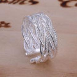 Cheap S-R023Free shipping,wholesale nets weave 925 silver ring ring,high quality ,fashion jewelry, Nickle free,antiallergic