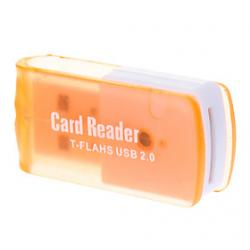 Cheap T-Flash USB 2.0 Micro SD Memory Card Reader (Orange)