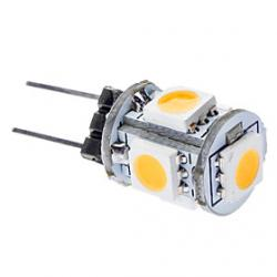 Cheap G4 1W 3000-3500K 65-75LM 5x5050SMD Warm White Light LED Car Lamps (DC 12V)