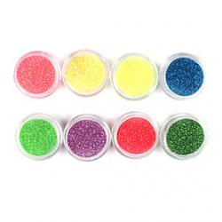 Cheap 1PCS Laser Glitter Acrylic Powder For 3D Nail Art(Assorted Color,No.17-24)