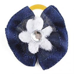 Cheap Rounded Flower Tiny Rubber Band Hair Bow for Dogs Cats(Assorted Color)