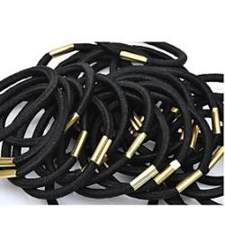 Cheap (6PC) Simple and Practical High Elastic Black Elastic Hair Bands