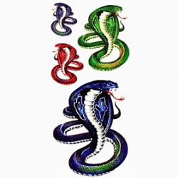 Cheap 1pc Cobra Snake Animal Waterproof Tattoo Sample Mold Temporary Tattoos Sticker for Body Art(18.5cm8.5cm)
