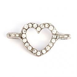 Cheap Alloy Heart DIY Charms Pendants for Bracelet  Necklace