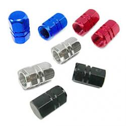 Cheap Universal Aluminium Alloy Car Wheel Schrader Valve Caps(Random Color)
