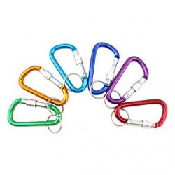 Cheap Al Alloy D-Shaped Aluminum Carabiner (Random Color)